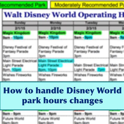 park hours affect prep wdw prep school
