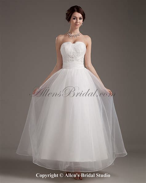 ankle wedding dress ankle length wedding dresses