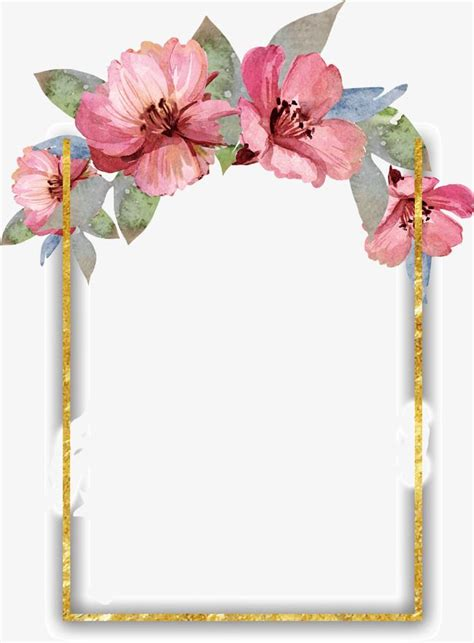 flor bonita da aguarela flower frame watercolor flowers