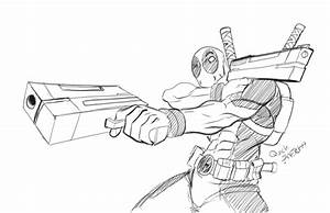 Deadpool Drawing In Pencil Full Body How To Draw Deadpool ...