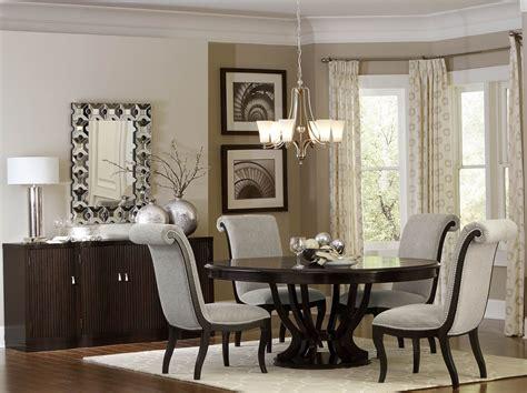 Savion Espresso Round Pedestal Extendable Dining Room Set