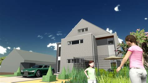 3d House Animation In Widescreen With