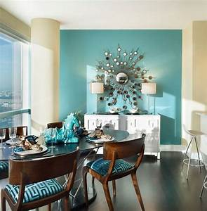 turquoise walls living room home design With best brand of paint for kitchen cabinets with wall art girls room