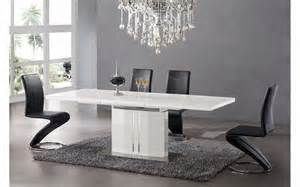 table de salle a manger design pas cher salle 224 manger table 224 manger laqu 233 blanc 224 rallonge comforium