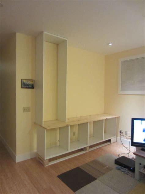 Besta Combination Ideas by Ikea Hack 2 Besta Built In Family Room Tv Bookshelf