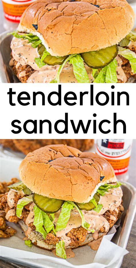 Turn the pork loin over and add the onions to the pot. Fried Pork Tenderloin Sandwich | Recipe | Fried pork ...