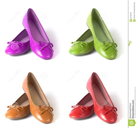flat shoes stock photo image