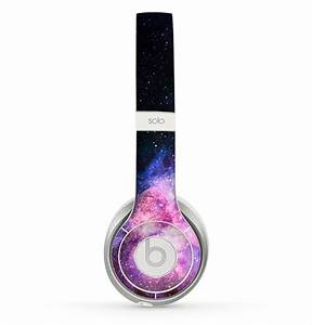 The Vibrant Purple And Blue Nebula Skin For The Beats By