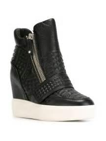 ash wedge sneakers in black lyst