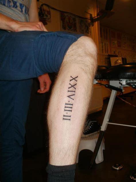 roman numerals date tattoo  tattoo design ideas