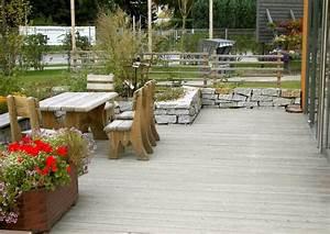 Terrasse Tiefer Als Garten : terrasse mit kleiner mauer terrassengestaltung ~ Orissabook.com Haus und Dekorationen