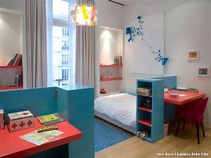 Décoration Chambre De Bébé : idee deco chambre fille bebe ~ Teatrodelosmanantiales.com Idées de Décoration