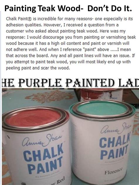 painting teak wood  chalk paintdont