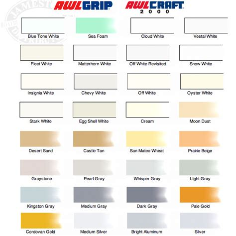 awlgrip topside paint color chart awlgrip paint chart