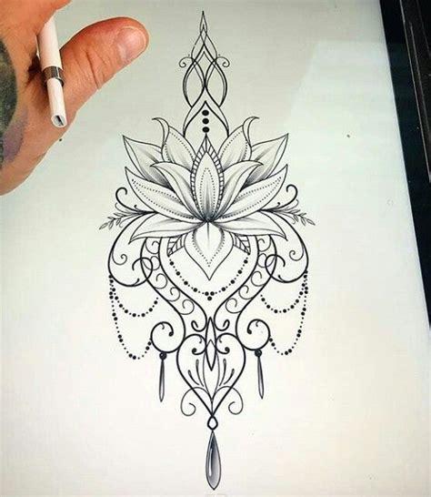 mandala dessin tatouage tatouage de lotus  pochoirs