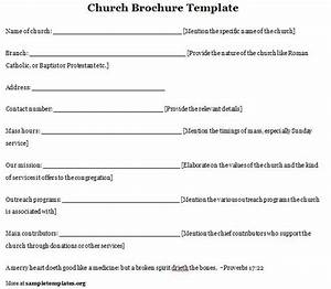6 best images of free printable church program template With free templates for church programs