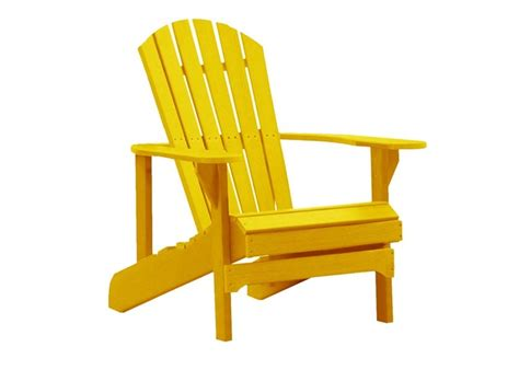 yellow folding adirondack chair outdoor area
