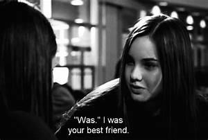 quote Black and White Friendship best friend honesty ...