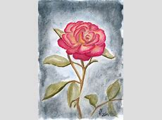 Aquarell Rose blogTinasWeltde