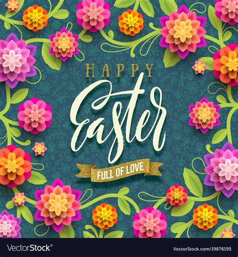 easter greeting card vector image  easter greeting