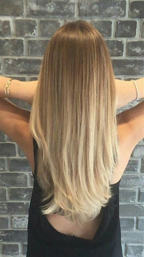 Image Result For Balayage Blonde Straight Hair