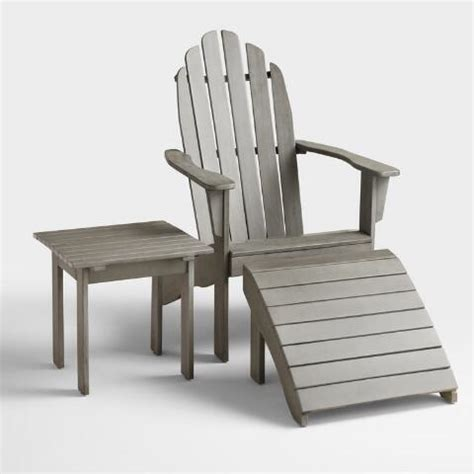 gray adirondack chair world market