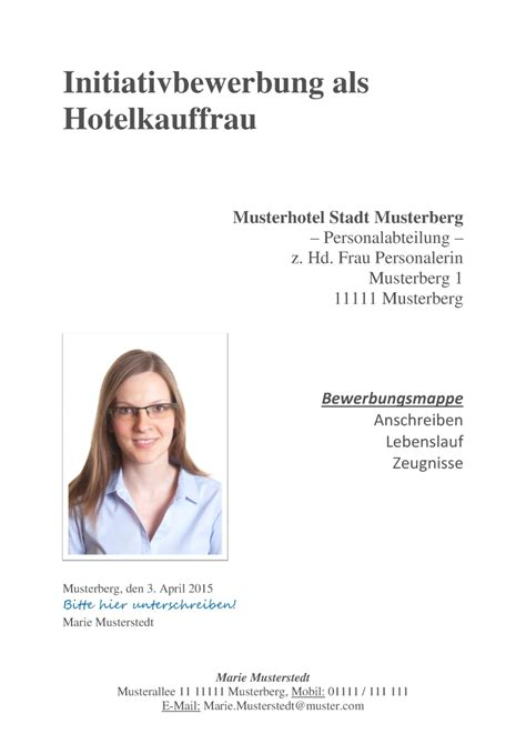 initiativbewerbung muster  commlinks