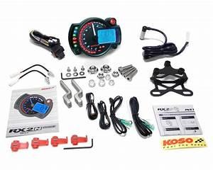 Multifunctional Speedometer Koso Rx2n  Gp Style Max 10000rpm