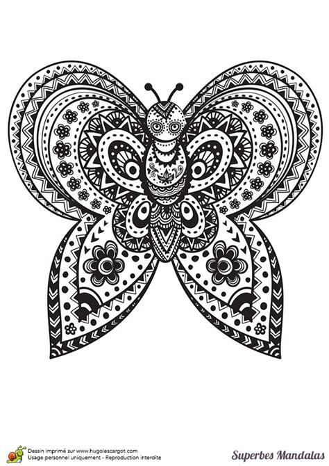 Coloriage D'un Papillon Mandala