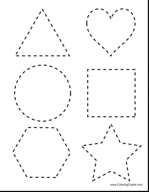 Tracing Shape Worksheets Worksheets For All  Download And