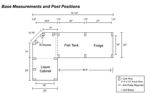 Bar Dimensions by Free Diy Home Bar Plans 8 Easy Steps Homewetbar Be