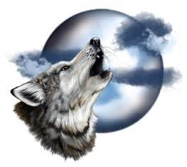Wolf Head Howling at the Moon Drawing