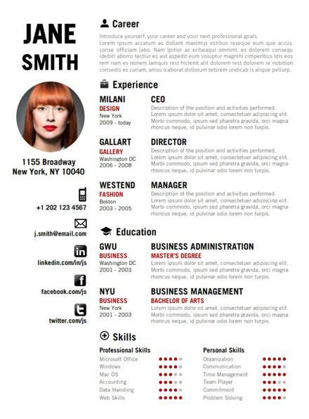 modele cv femme de chambre 1000 ideas about fashion resume on fashion cv resume fashion resume templates