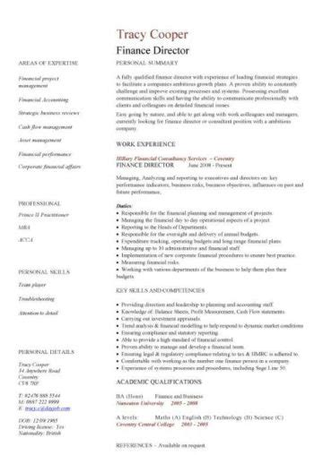 financial cv template business administration cv templates accountant financial jobs