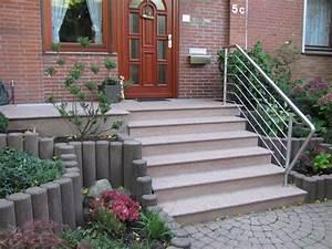 Treppe Hauseingang Kosten : au entreppe treppenanlage im au enbereich aus granit und ~ Lizthompson.info Haus und Dekorationen