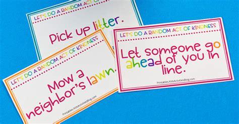 printable random acts  kindness cards