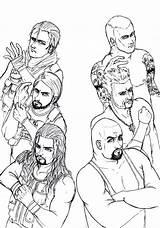 Coloring Wwe Pages Shield Roman Reigns Dean Ambrose Seth Rollins Raw Sketch Wm29 Tapla Template Deviantart Azcoloring Az Coloringhome Popular sketch template