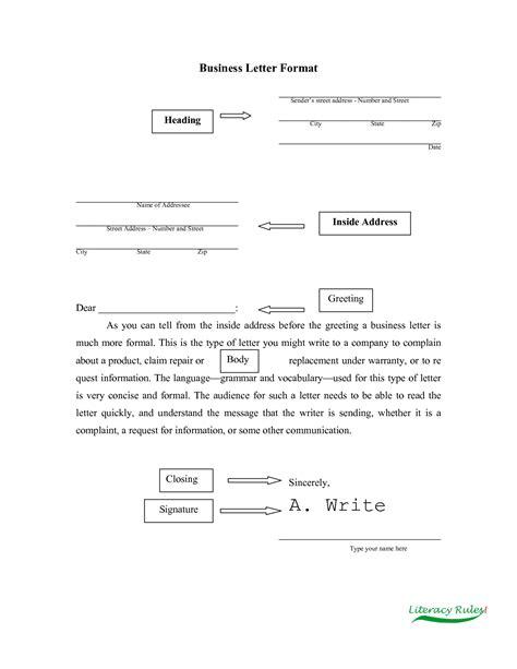 business complaint letter  excellent sample