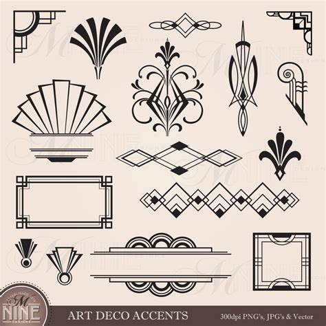 floor and decor corona digital clipart deco design elements frames borders