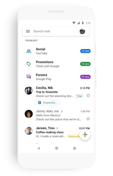 gmail login in mobile s gmail mobile app is getting a new look cnet