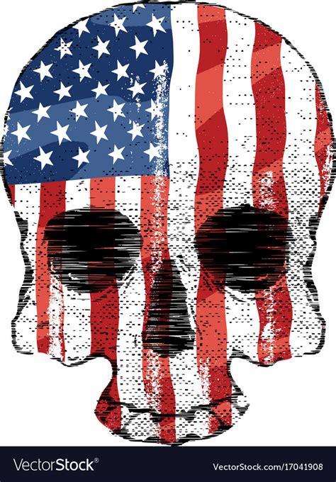 American Flag Skull Svg  – 296+ Popular SVG Design