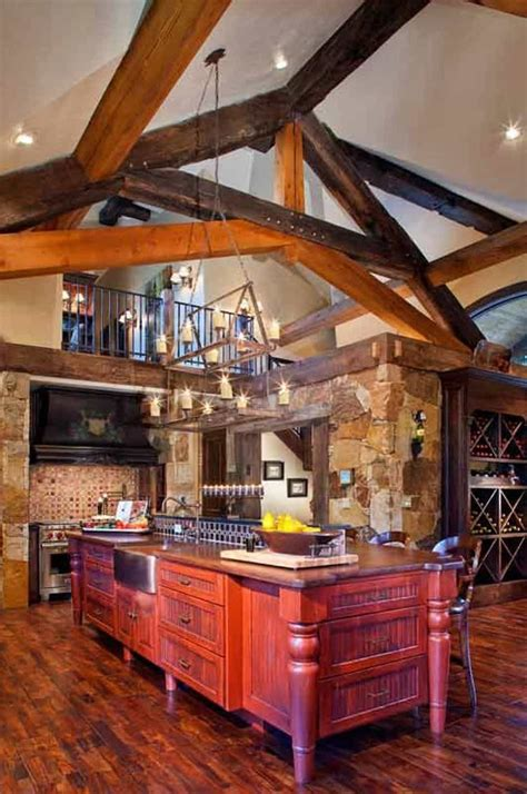 kitchen island decor ideas cabin decorating ideas kitchen with rustic chandeliar and 5034