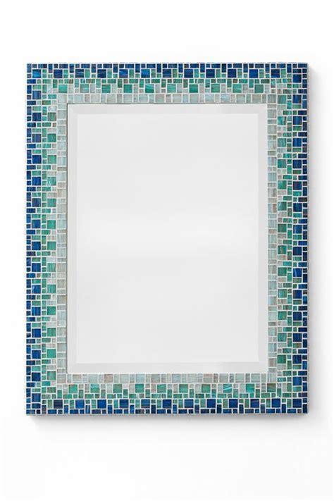 Blue Mosaic Bathroom Mirror by Custom Bathroom Mosaic Mirror Sky Blue Teal Light Blue