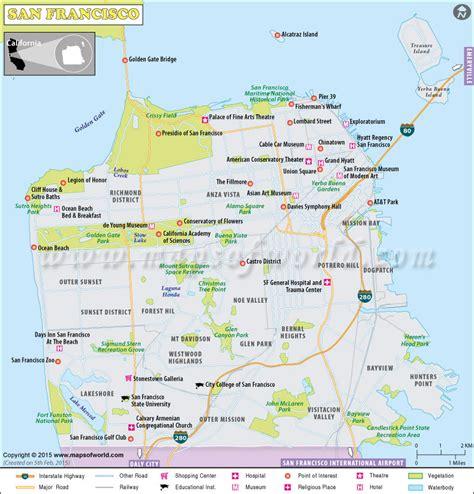 san francisco map detailed map san francisco city ca