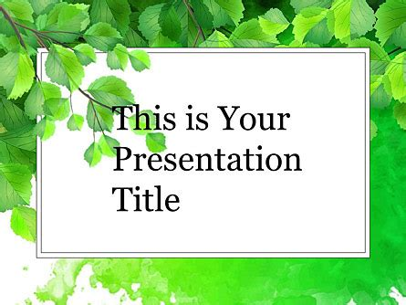 green branch  google  theme poweredtemplatecom