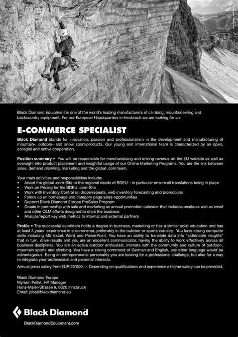 Ecommerce Specialist by E Commerce Specialist In Innsbruck Gesucht Bewirb Dich
