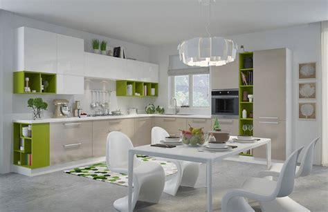 exemple cuisine en l modèle de cuisine moderne avec des touches de couleurs