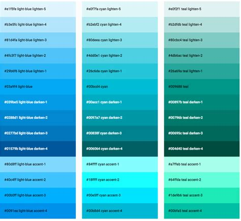 css color css color 6 sle css color charts sle templates