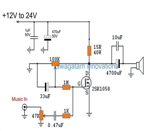Single Mosfet Class Power Amplifier Circuit Homemade