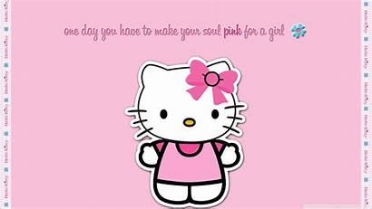 Kitty Hello Pink Desktop Laptop Standard Wallpapers